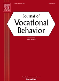 Cover image for Journal of Vocational Behavior
