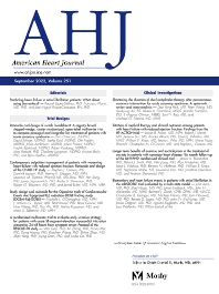American Heart Journal - ISSN 0002-8703