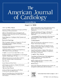 Cover image for The American Journal of Cardiology<sup>®</sup>