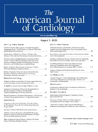 The American Journal of Cardiology<SUP>®</SUP> - Elsevier
