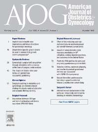 Cover image for American Journal of Obstetrics & Gynecology