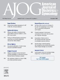 American Journal of Obstetrics & Gynecology - ISSN 0002-9378