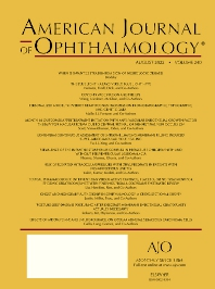 cover of American Journal of Ophthalmology