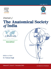 Cover image for Journal of the Anatomical Society of India