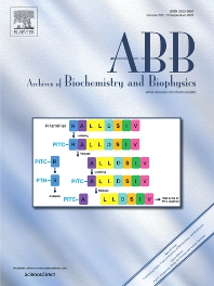 Archives of Biochemistry and Biophysics - ISSN 0003-9861