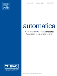 Automatica - Journal - Elsevier
