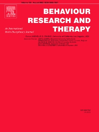 Cover image for Behaviour Research and Therapy