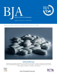 Cover image for British Journal of Anaesthesia