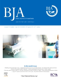 British Journal of Anaesthesia - ISSN 0007-0912