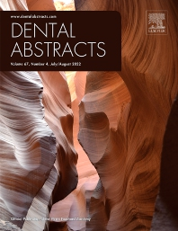 Cover image for Dental Abstracts