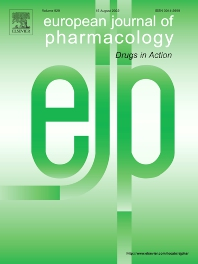 cover of European Journal of Pharmacology