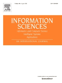 Cover image for Information Sciences