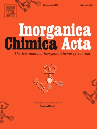 Cover image for Inorganica Chimica Acta