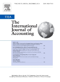 The International Journal of Accounting - ISSN 0020-7063