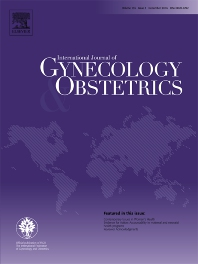 Cover image for International Journal of Gynecology & Obstetrics