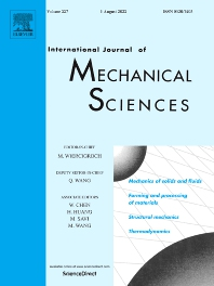 Cover image for International Journal of Mechanical Sciences