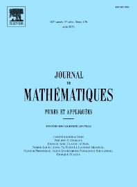 Cover image for Journal de Mathématiques Pures et Appliquées