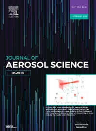 Cover image for Journal of Aerosol Science