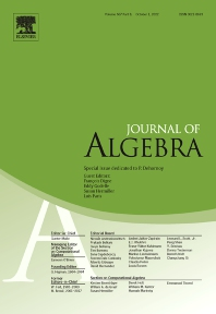 Journal of Algebra - ISSN 0021-8693