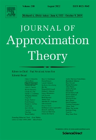Journal of Approximation Theory - ISSN 0021-9045