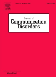 Cover image for Journal of Communication Disorders