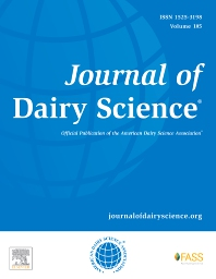 Journal of Dairy Science - ISSN 0022-0302