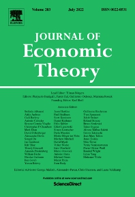 Cover image for Journal of Economic Theory