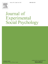 Journal of Experimental Social Psychology - ISSN 0022-1031