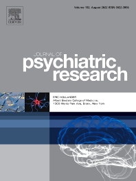 Cover image for Journal of Psychiatric Research