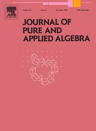 Cover image for Journal of Pure and Applied Algebra