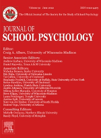 Cover image for Journal of School Psychology