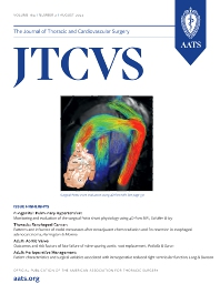 Cover image for Journal of Thoracic and Cardiovascular Surgery