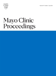 Cover image for Mayo Clinic Proceedings