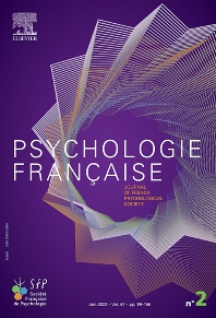 Cover image for Psychologie Française