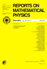 Cover image for Reports on Mathematical Physics