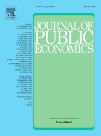 Cover image for Journal of Public Economics