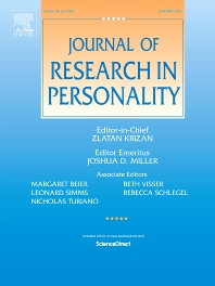 Cover image for Journal of Research in Personality