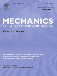 Cover image for Mechanics Research Communications