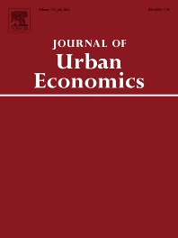 Cover image for Journal of Urban Economics