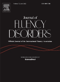 Cover image for Journal of Fluency Disorders