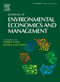 Cover image for Journal of Environmental Economics and Management