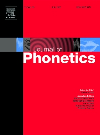 cover of Journal of Phonetics