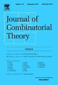 Cover image for Journal of Combinatorial Theory, Series B