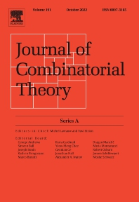 Cover image for Journal of Combinatorial Theory, Series A