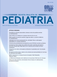 Cover image for Revista Paulista de Pediatria