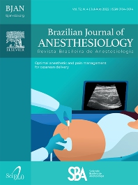 Cover image for Brazilian Journal of Anesthesiology