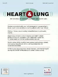 Cover image for Heart & Lung - The Journal of Acute and Critical Care