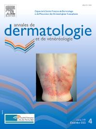 Cover image for Annales de Dermatologie et de Vénéréologie