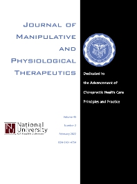 Cover image for Journal of Manipulative and Physiological Therapeutics