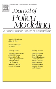 Journal of Policy Modeling - ISSN 0161-8938